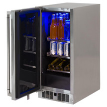 Lynx LM15REF 15-Inch 2.7 Cu. Ft. Stainless Steel Left Or Right Hinge Outdoor Compact Refrigerator