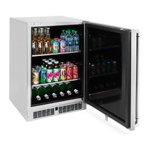 Lynx LM24BF 24-Inch 5.3 Cu. Ft. Stainless Steel Right Or Left Hinge Outdoor Refrigerator -With Keg Option