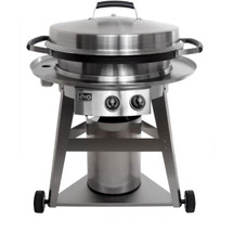 Evo 10-0002-LP Or NG + 11-0001-UG Professional Classic Wheeled Cart Flattop Propane Or Natural Gas Grill With Ceramic Cooking Surface