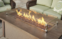 Outdoor GreatRoom Company PR-1242BRN Pine Ridge Linear Fire Pit Table