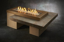 Outdoor GreatRoom Company UPT-1242-BRN Uptown Fire Pit Table In Brown