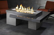 Outdoor GreatRoom Company UPT-1242 Uptown Fire Pit Table In Black With 1242 Burner