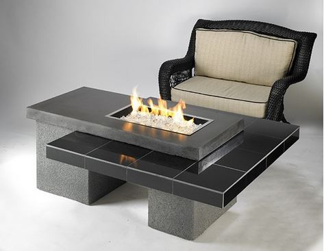 Outdoor Greatroom Company Upt 1224 Uptown Fire Pit Table In Black