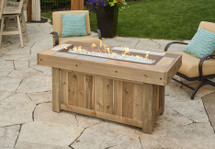 Outdoor GreatRoom Company VNG-1242BRN Vintage Linear 1242 Fire Table