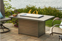 Outdoor GreatRoom Company BRK-1224 Brooks Rectangular Fire Pit Table