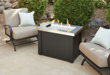Outdoor GreatRoom Company PROV-1224-SS Providence Fire Pit Table with Stainless Steel Top