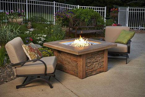 patio with square fire pit. Image 1 Patio With Square Fire Pit O