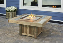 Outdoor GreatRoom Company VNG-2424BRN Square Vintage Fire Table