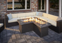 Outdoor GreatRoom Company PT-1242-MM The Pointe L Shaped Fire Pit Table
