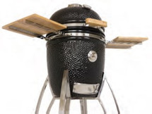 "Saffire 162-SGUB15-CGOB 15"" Bronze Series Onyx Black Kamado Grill"