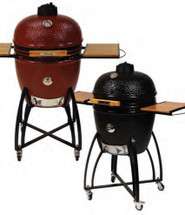 "Saffire 162-SGUS19-CG 19"" Silver Series Onyx Black Or Jasper Red Kamado Grill"