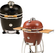 "Saffire 162-SGUS23-CG 23"" Extra Large Silver Series Onyx Black Or Jasper Red Kamado Grill"