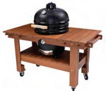 Saffire 162-SGTT23-TT Golden Teak Table Cart For 23 Inch XL Saffire Series Grills