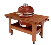 Saffire 162-SGTM23-MT Asian Mahogany Table Cart For 23 Inch XL Saffire Series Grills