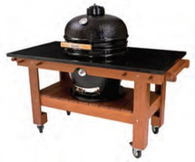 Saffire 162-SGTM23-O Asian Mahogany Table Cart For 23 Inch Saffire XL Series Grills Open Top To Add Granite