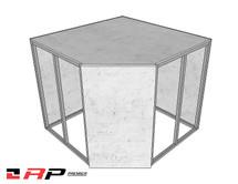 """Rapid Panel Premier™ Aluminum 42"""" Corner Module"""