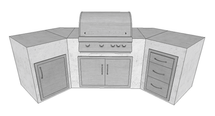 Big Ridge Cambridge Aluminum Outdoor Kitchen Package