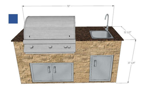 Baltic Brown Counter Top with Cordoba Noche Sides