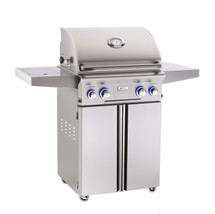 AOG 24PCL L-Series 24-Inch Gas Grill On Cart With Rotisserie & Single Side Burner