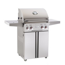 AOG 24PCT T-Series 24-Inch Gas Grill On Cart With Rotisserie & Single Side Burner