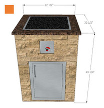 "32.5"" 22601 Luxury Complete Outdoor Kitchen Module with Blaze Appliances and Fire Pit"