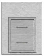 """28"""" Mod Double Drawers"""