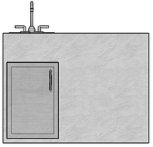 "48"" Mod Single Door & Sink"