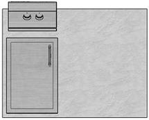 """48"""" Mod Single Door & Double Burner"""