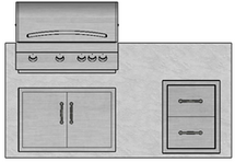 "71"" Mod Grill, Double Doors & Double Drawers"