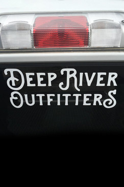 Deep River Outfitters full text 12-inch decal.