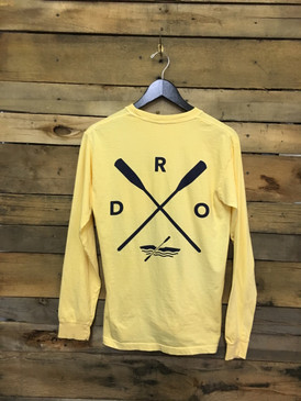 DRO-X-Kayak long sleeve tee in Comfort Colors Butter.