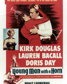 Poster & Doris Day in Young Man With A Horn Poster and Photo