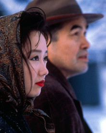 Akira Takayama & Youki Kudoh in Snow Falling on Cedars Poster and Photo
