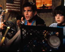 Mel Gibson & Elijah Wood in Forever Young Poster and Photo