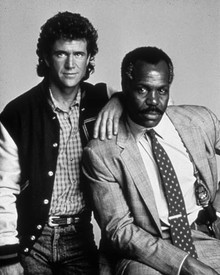 Mel Gibson & Danny Glover in Lethal Weapon Poster and Photo