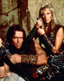 Arnold Schwarzenegger & Sandahl Bergman in Conan the Barbarian Poster and Photo