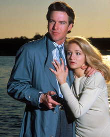 Dennis Quaid & Ellen Barkin in The Big Easy Poster and Photo