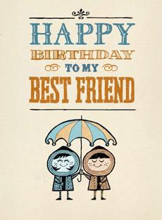 B-004 Happy Birthday to my Best Friend. - Bald Guy Greetings