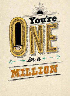 B-003  You're One in a Million!