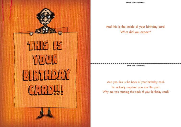 Birthday Cards Bald Guy Greetings