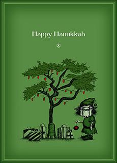 #025a-8  (Box of 8) Happy Hanukkah cards (Smaller Version)