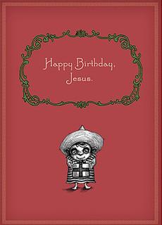 #008a-8  (Box of 8) Happy Birthday Jesus (Smaller Version)