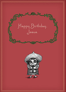 #008  This is actually a birthday card for a Hispanic kid named Jesus.      But I think it works for Christmas too.
