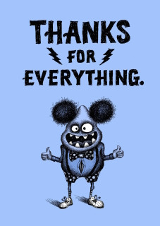 #226a - 8 - Thanks for Everything (box of 8 mini-cards)