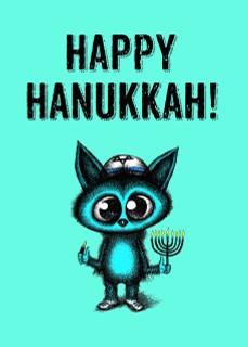 #238a-8  (Box of 8) Happy Hanukkah/Not Jewish? (Smaller Version)