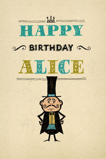 B-041  HB - Happy Birthday, Alice