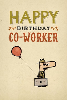 B-036  Happy Birthday Co-Worker