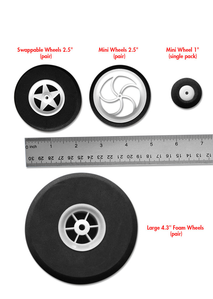 "Mini Wheels 2.4"" (pair)"