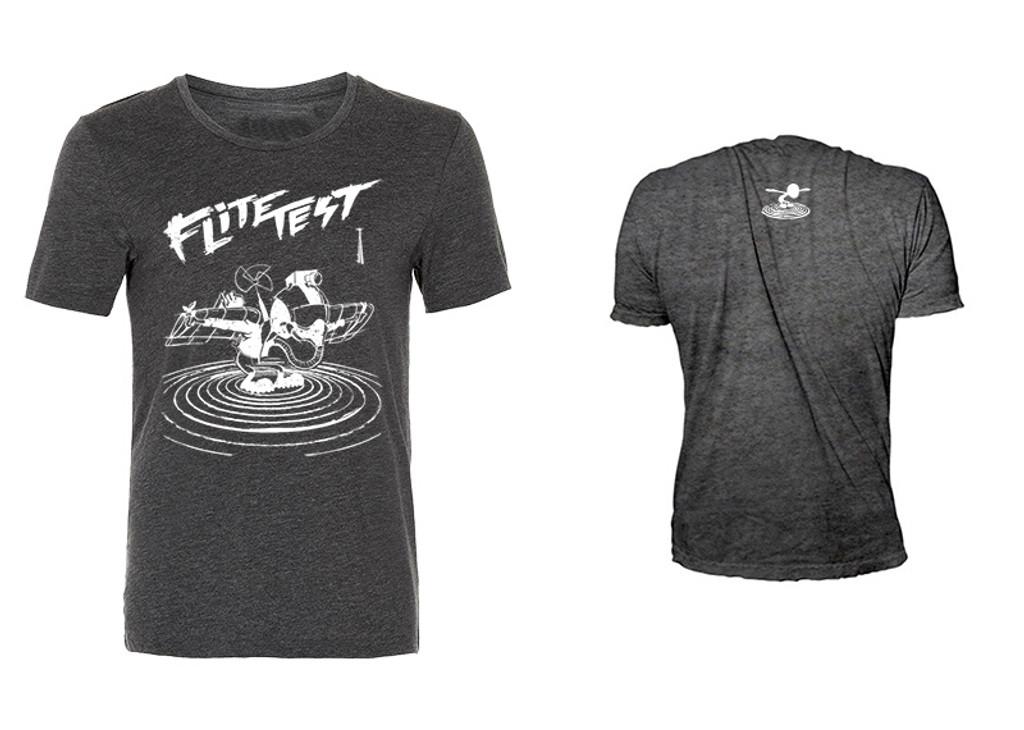 Flite Test Gremlin Illustration T shirt - Charcoal