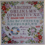 CHART PACK FRENCH SAMPLER LOUISE DELAPLAGNE 1892